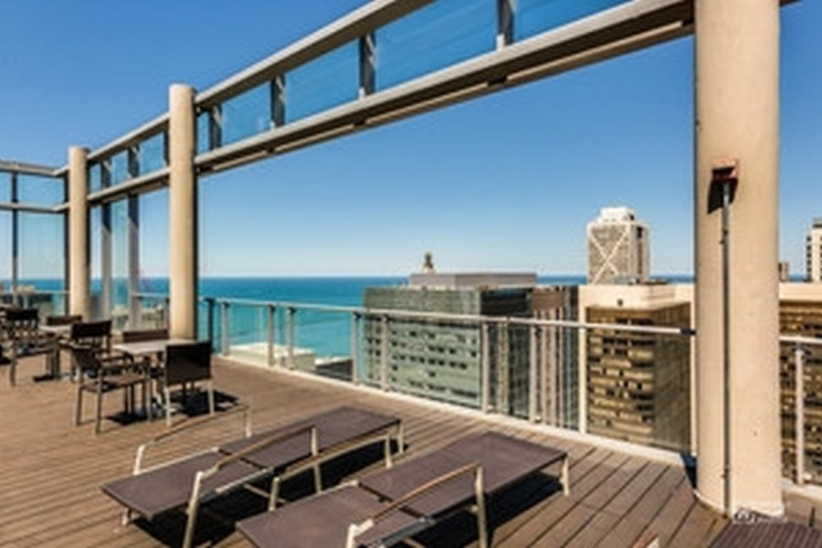 Real Estate Photography - 600 N. Fairbanks Ct., 2104, Chicago, IL, 60611 - Sundeck
