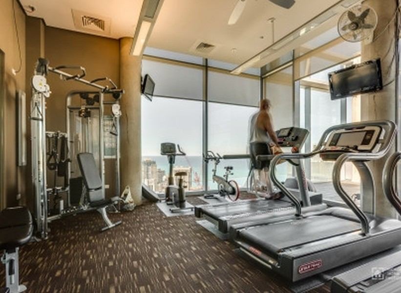 Real Estate Photography - 600 N. Fairbanks Ct., 2104, Chicago, IL, 60611 - Fitness Room