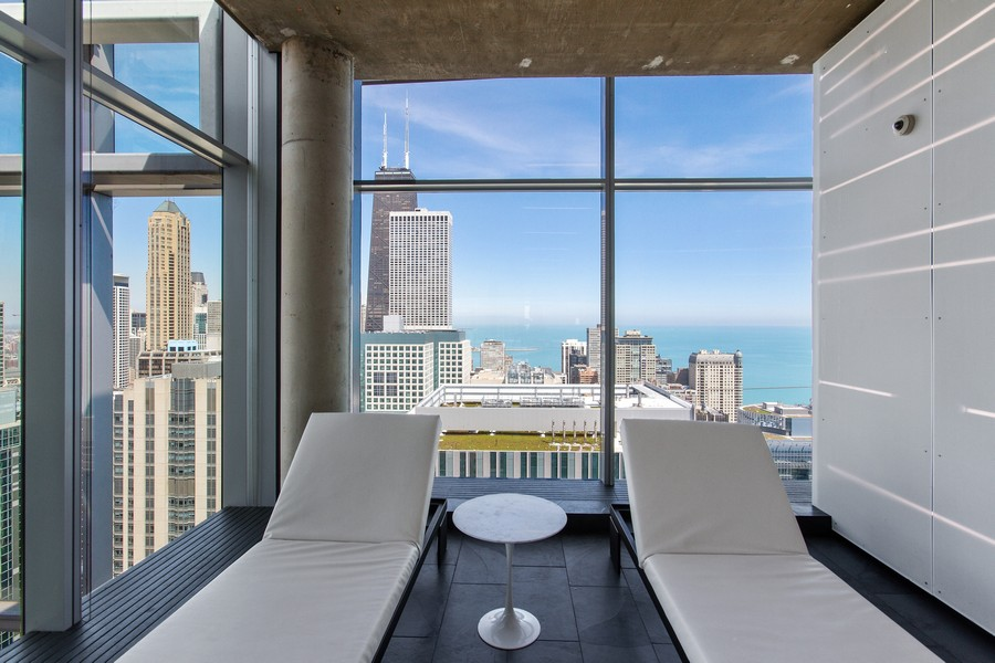 Real Estate Photography - 600 N. Fairbanks Ct., 2104, Chicago, IL, 60611 - Pool Lounge