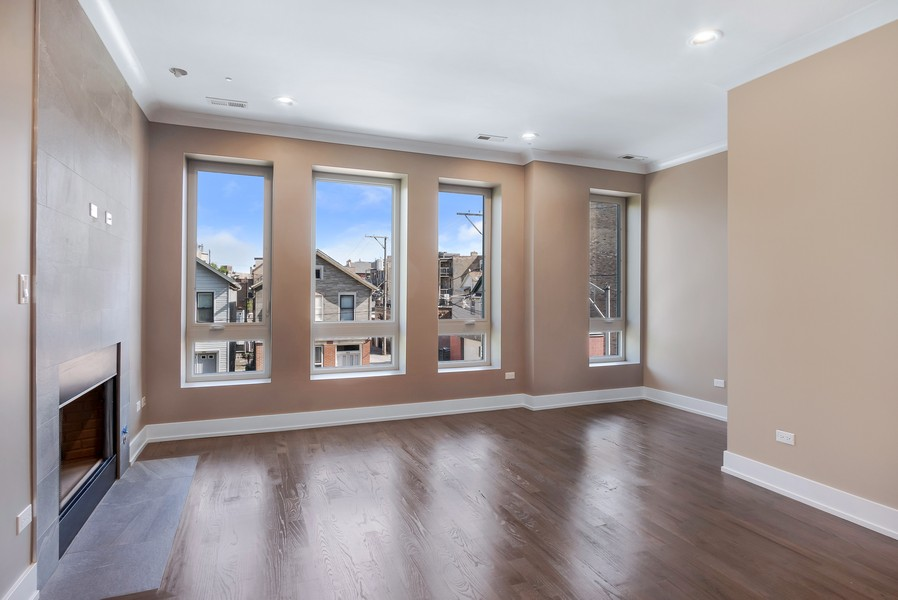 Real Estate Photography - 1415 W Walton St, #2, Chicago, IL, 60642 - Living Room
