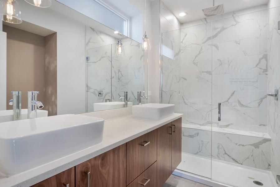 Real Estate Photography - 1415 W Walton St, #2, Chicago, IL, 60642 - Master Bathroom