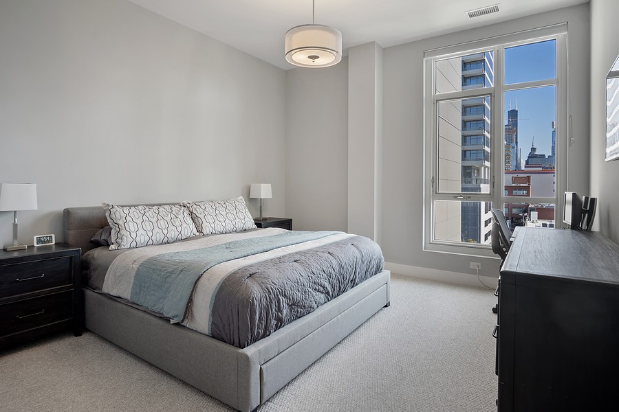 Real Estate Photography - 367 W Locust St, Unit 504, Chicago, IL, 60610 - Master Bedroom