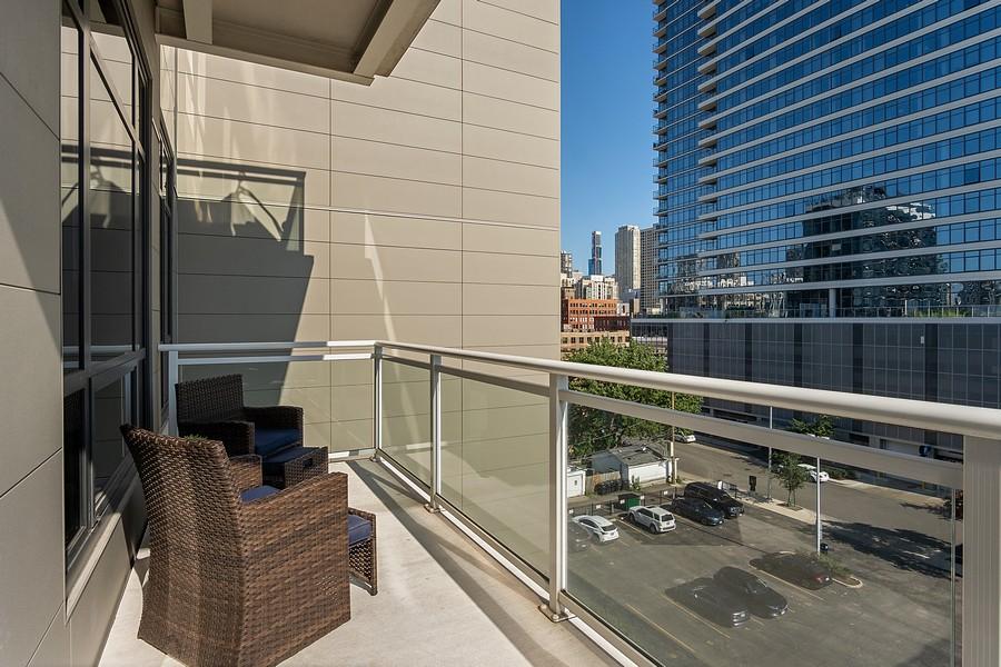 Real Estate Photography - 367 W Locust St, Unit 504, Chicago, IL, 60610 - Balcony