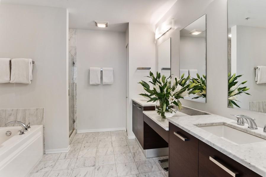 Real Estate Photography - 500 W Superior, 1305, Chicago, IL, 60654 - Master Bathroom