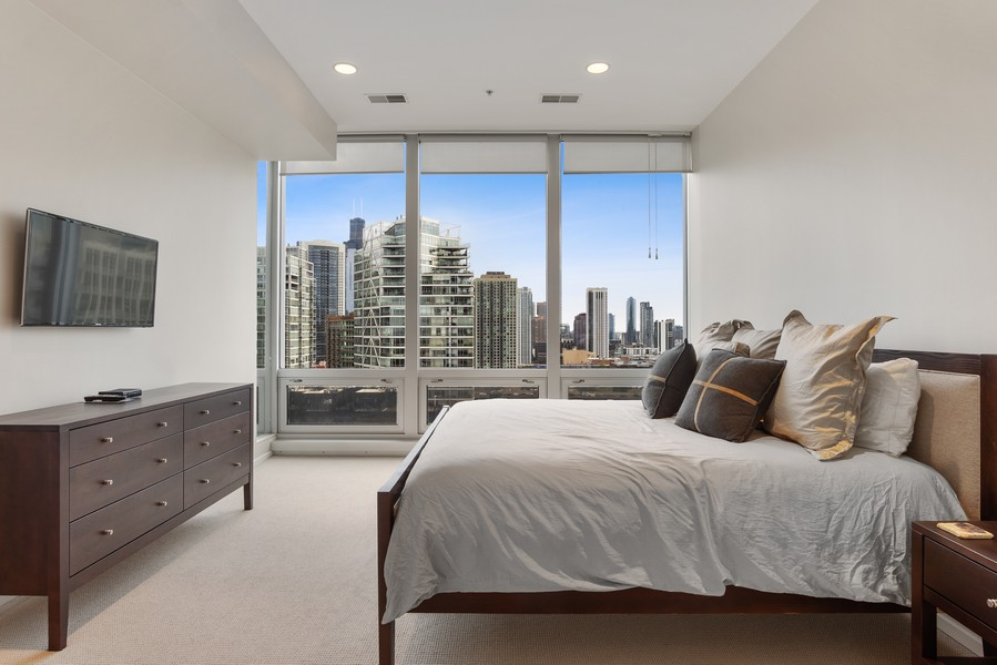 Real Estate Photography - 500 W Superior, 1305, Chicago, IL, 60654 - Master Bedroom