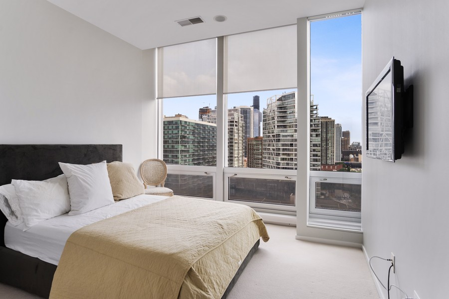 Real Estate Photography - 500 W Superior, 1305, Chicago, IL, 60654 - Bedroom