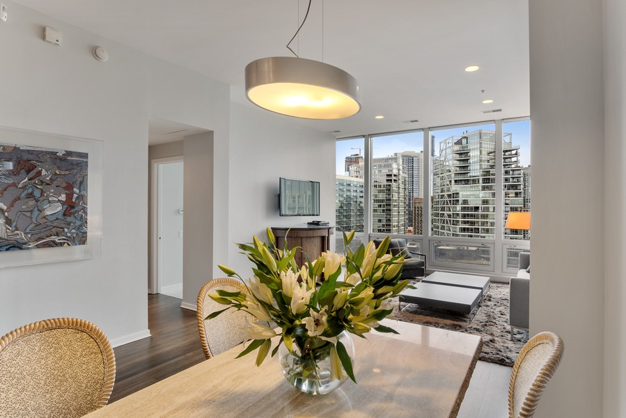 Real Estate Photography - 500 W Superior, 1305, Chicago, IL, 60654 - Kitchen/Dining