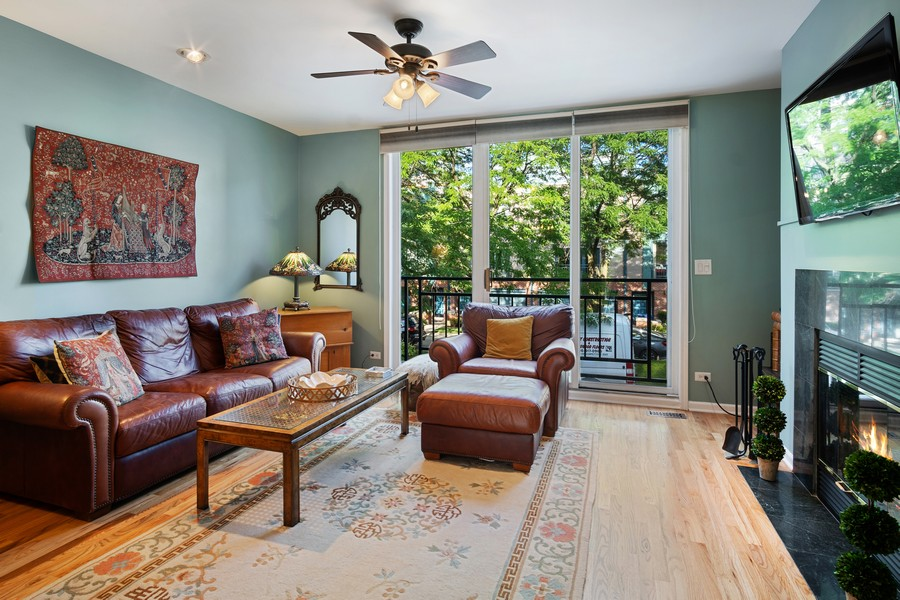Real Estate Photography - 1349 S. Clark, Chicago, IL, 60618 - Living Room