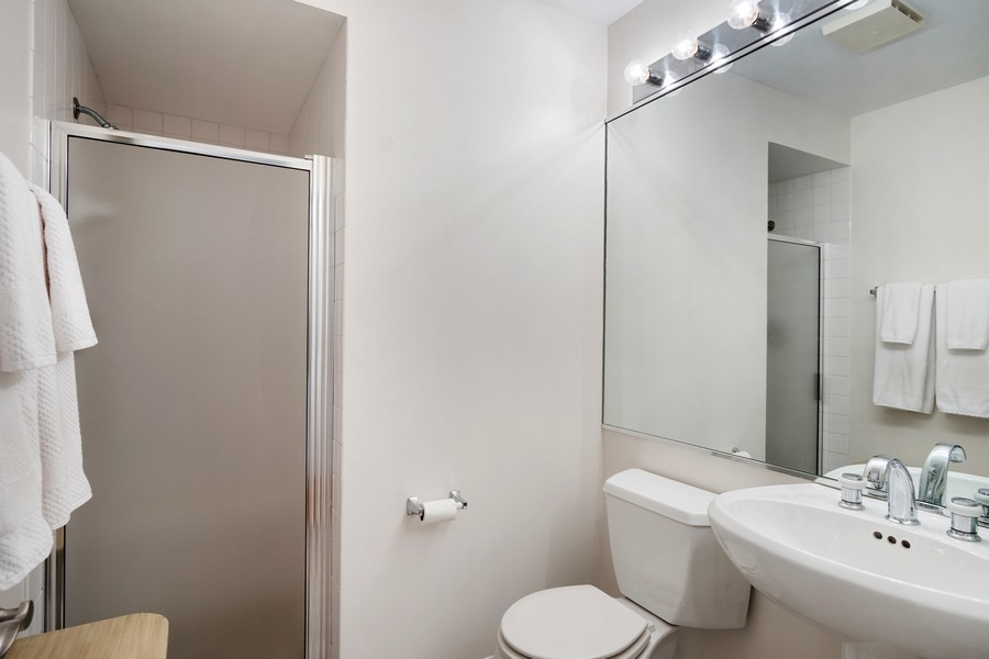 Real Estate Photography - 1349 S. Clark, Chicago, IL, 60618 - 2nd Bathroom