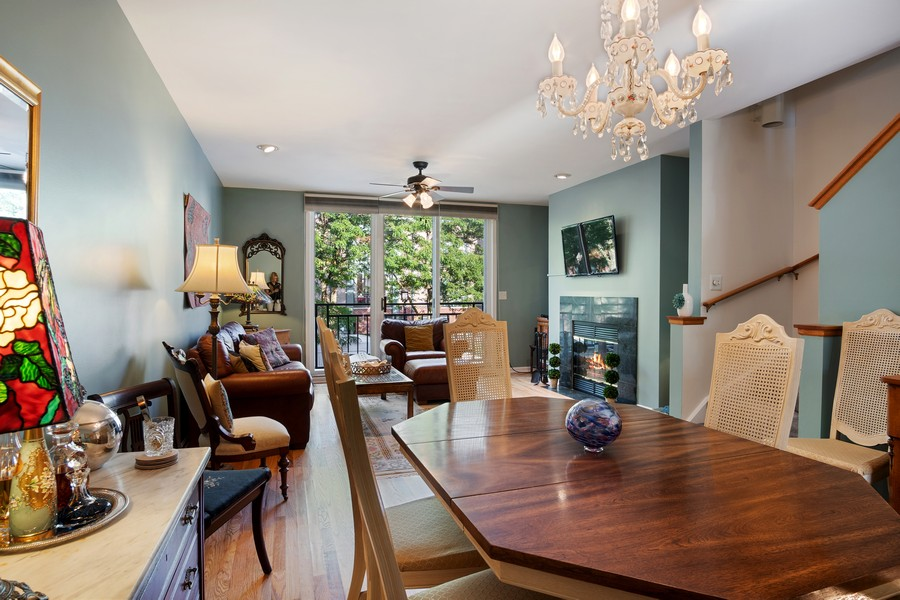 Real Estate Photography - 1349 S. Clark, Chicago, IL, 60618 - Living Room/Dining Room