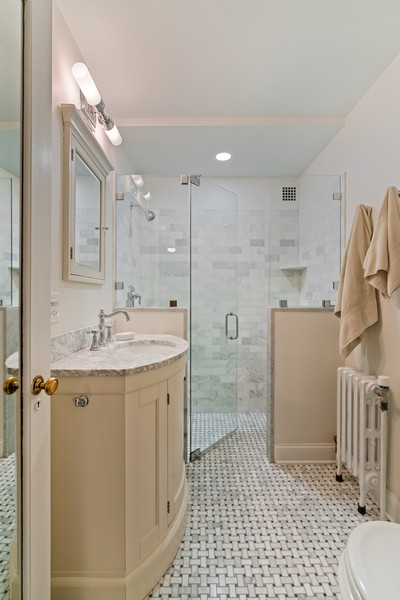 Real Estate Photography - 210 E Pearson St, Unit 7A, Chicago, IL, 60611 - Master Bathroom