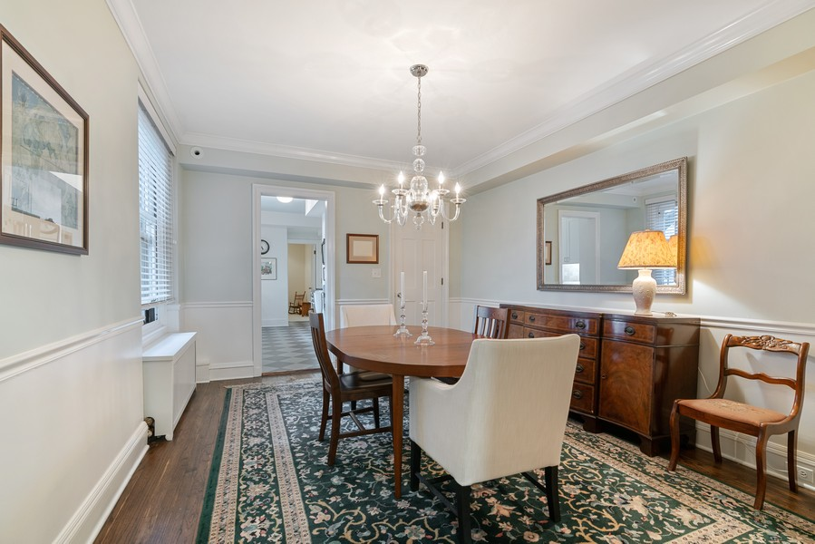 Real Estate Photography - 210 E Pearson St, Unit 7A, Chicago, IL, 60611 - Dining Room