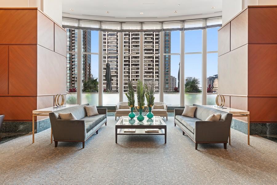 Real Estate Photography - 100 E Huron, 3702, Chicago, IL, 60611 - Lobby