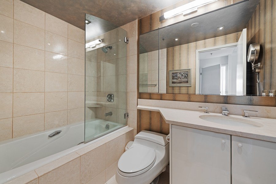 Real Estate Photography - 100 E Huron, 3702, Chicago, IL, 60611 - Master Bathroom