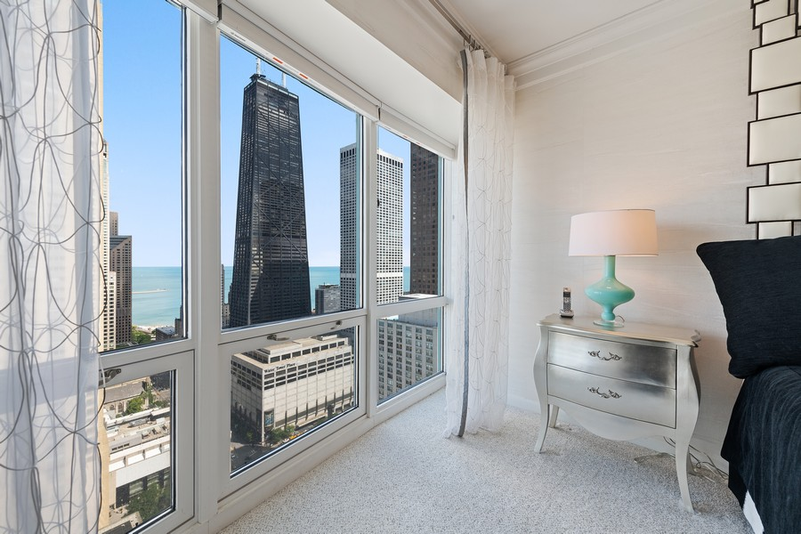 Real Estate Photography - 100 E Huron, 3702, Chicago, IL, 60611 - 2nd Bedroom