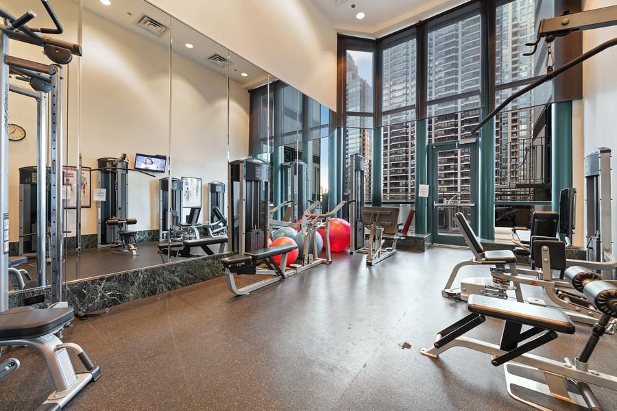 Real Estate Photography - 100 E Huron, 3702, Chicago, IL, 60611 - Gym