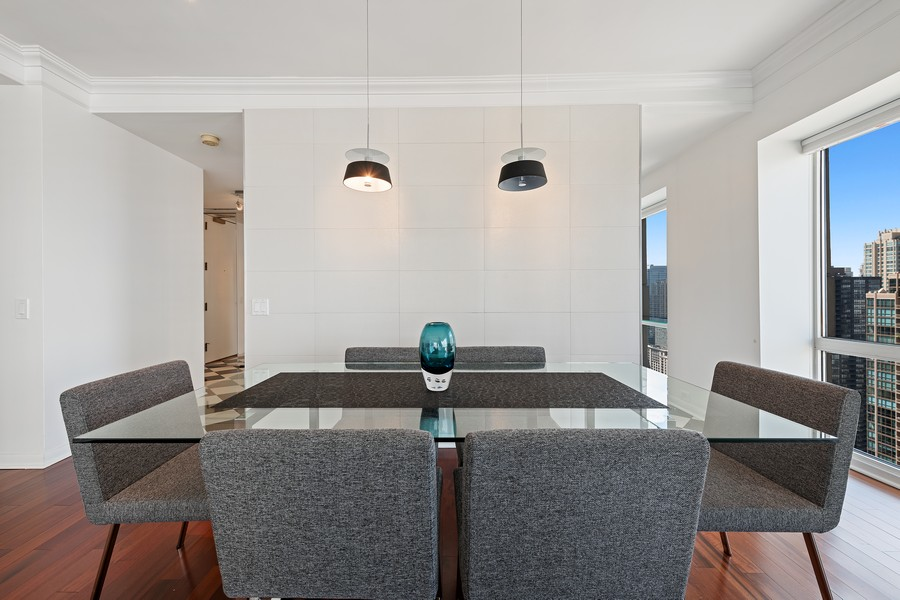 Real Estate Photography - 100 E Huron, 3702, Chicago, IL, 60611 - Dining Room