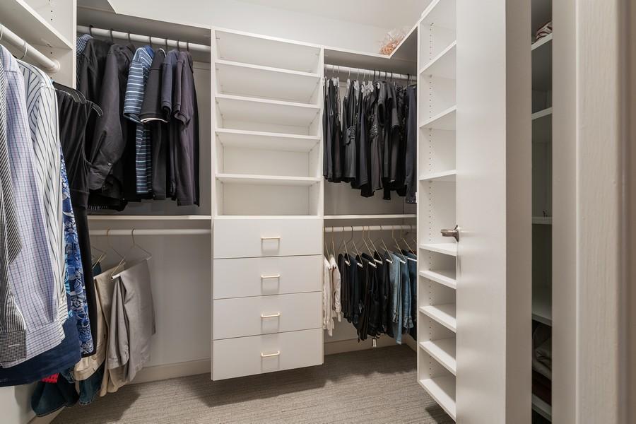 Real Estate Photography - 100 E Huron, 3702, Chicago, IL, 60611 - Master Bedroom Closet