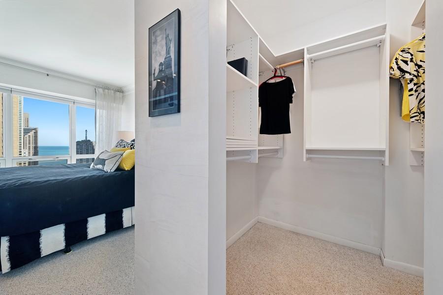 Real Estate Photography - 100 E Huron, 3702, Chicago, IL, 60611 - Closet