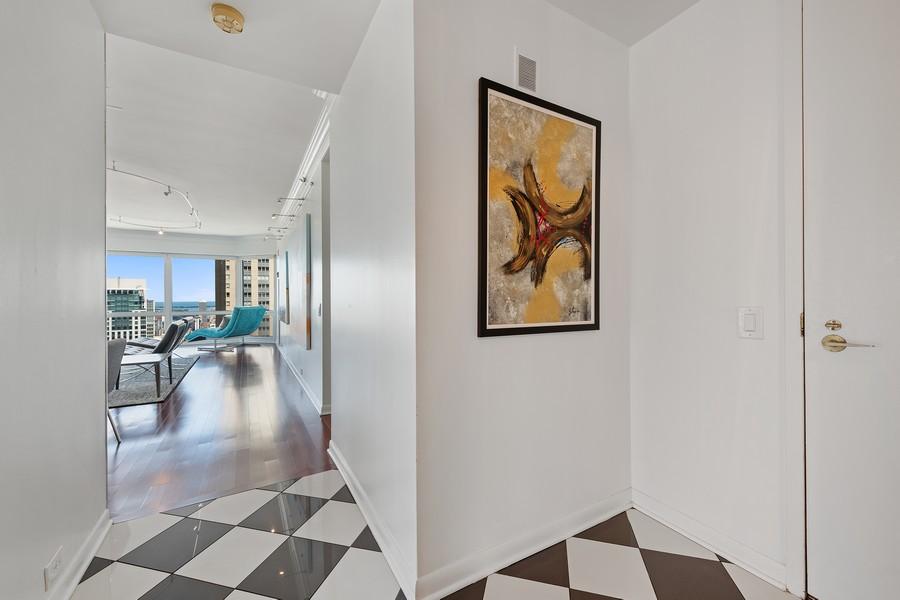 Real Estate Photography - 100 E Huron, 3702, Chicago, IL, 60611 - Entryway