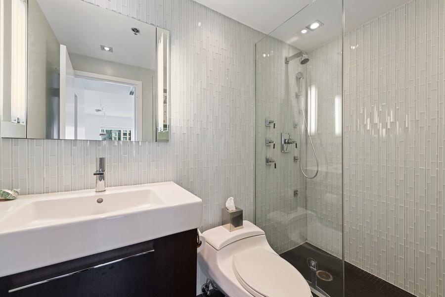 Real Estate Photography - 100 E Huron, 3702, Chicago, IL, 60611 - 2nd Bathroom