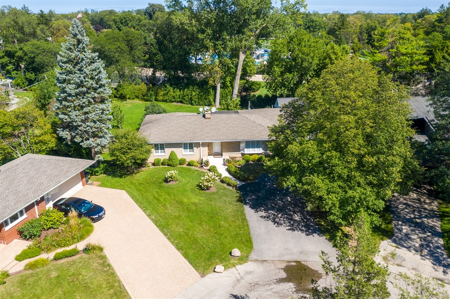 Real Estate Photography - 2316 Sumac Circle, Glenview, IL, 60025 - Aerial View