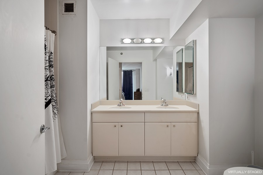 Real Estate Photography - 33 W. Ontario, 26H, Chicago, IL, 60654 - Master Bathroom