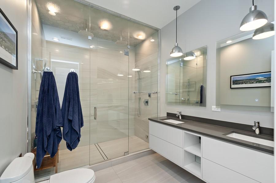 Real Estate Photography - 1441 W. Blackhawk #1E, Chicago, IL, 60642 - Master Bathroom