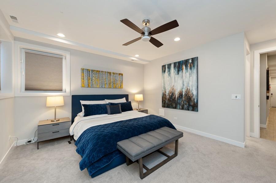 Real Estate Photography - 1441 W. Blackhawk #1E, Chicago, IL, 60642 - Master Bedroom
