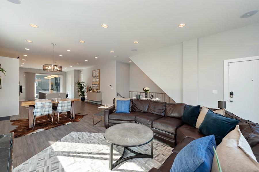 Real Estate Photography - 1441 W. Blackhawk #1E, Chicago, IL, 60642 - Family Room