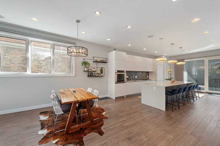 Real Estate Photography - 1441 W. Blackhawk #1E, Chicago, IL, 60642 - Dining Area