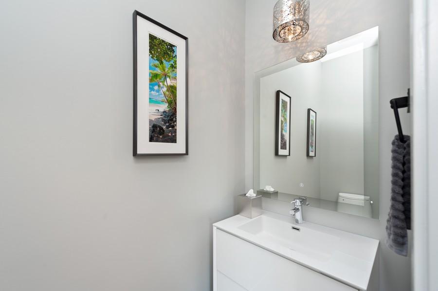 Real Estate Photography - 1441 W. Blackhawk #1E, Chicago, IL, 60642 - Half Bath