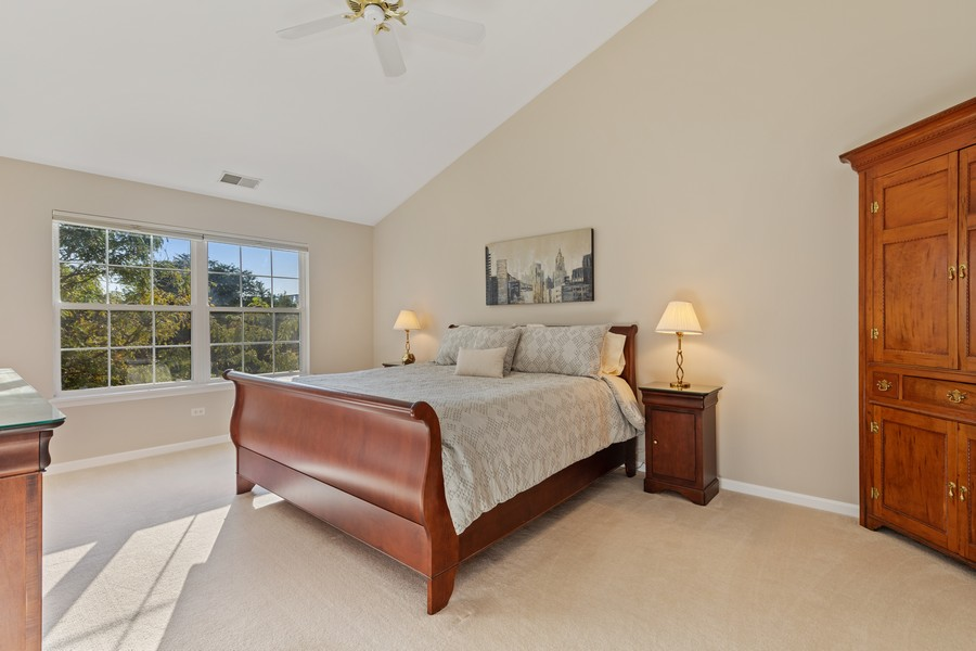 Real Estate Photography - 6211 Edgebrook Lane West, Indian Head Park, IL, 60525 - Master Bedroom Suite with Black Out Shades