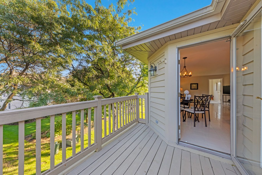 Real Estate Photography - 6211 Edgebrook Lane West, Indian Head Park, IL, 60525 - Private Deck off of Kitchen & Breakfast Area