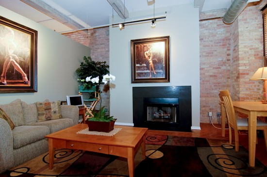 Real Estate Photography - 375 W Erie St, Unit 423, Chicago, IL, 60654 - Living Room