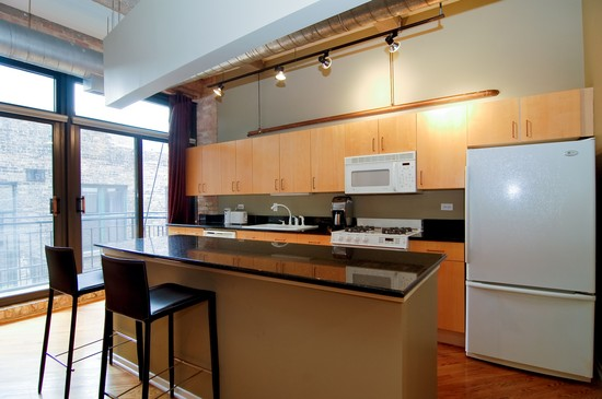 Real Estate Photography - 375 W Erie St, Unit 423, Chicago, IL, 60654 - Kitchen