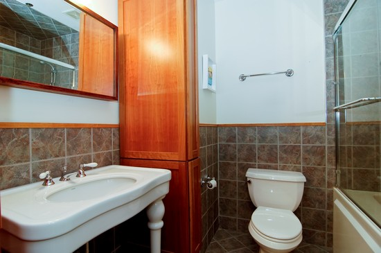 Real Estate Photography - 375 W Erie St, Unit 423, Chicago, IL, 60654 - Bathroom