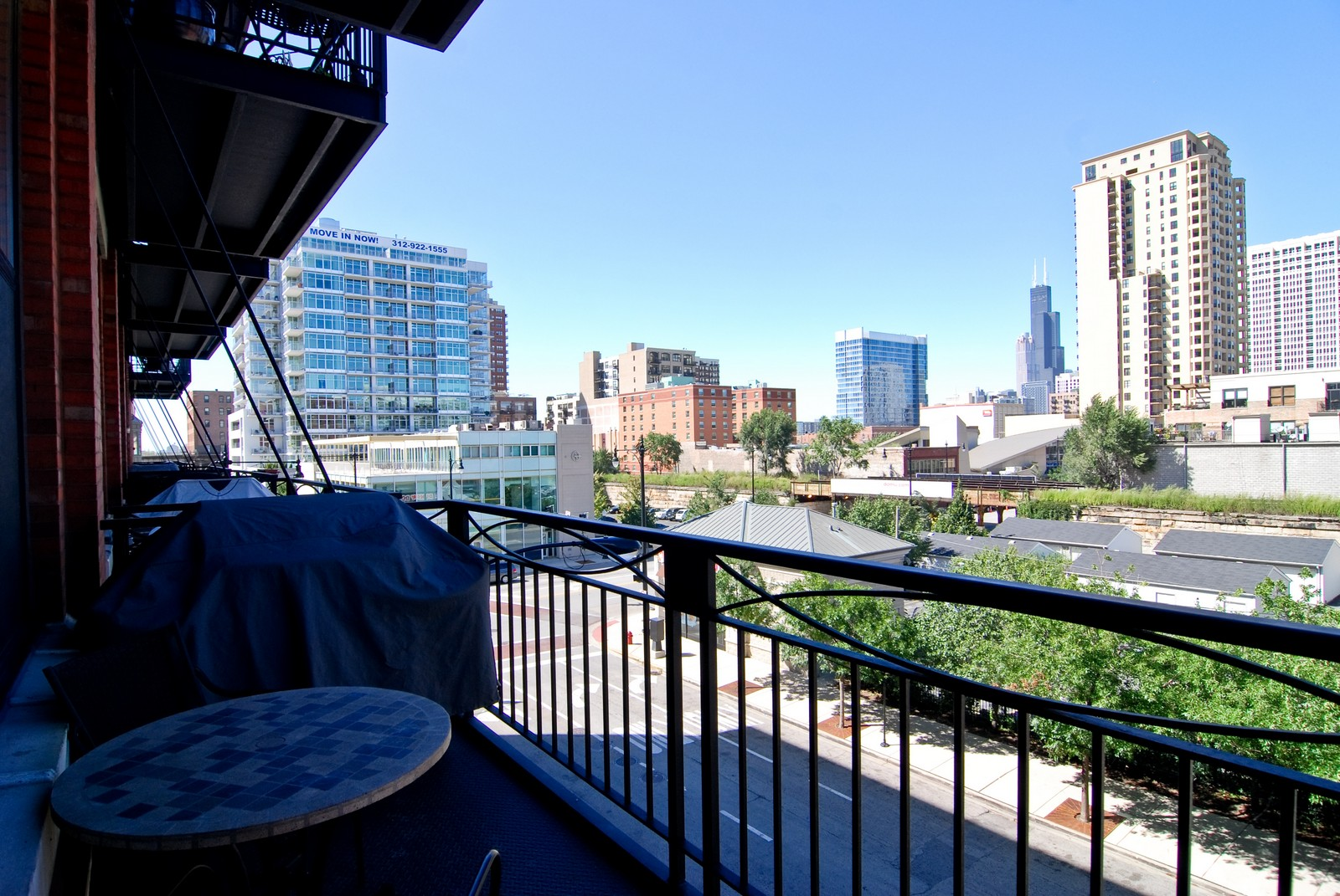 Real Estate Photography - 1601 S Michigan, Unit 305, Chicago, IL, 60616 - Balcony