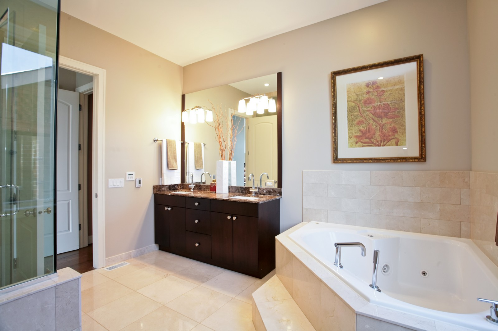 Real Estate Photography - 2340 W Ohio, Chicago, IL, 60612 - Master Bathroom