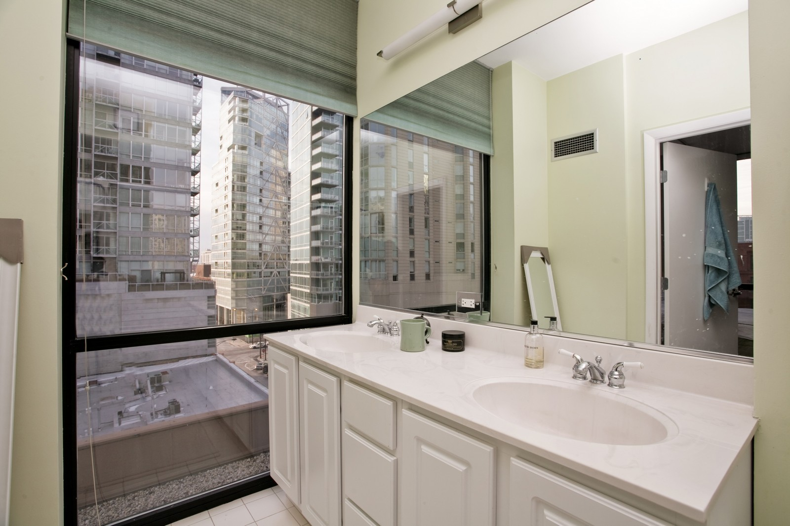 Real Estate Photography - 435 W Erie, Unit 807, Chicago, IL, 60654 - Master Bathroom