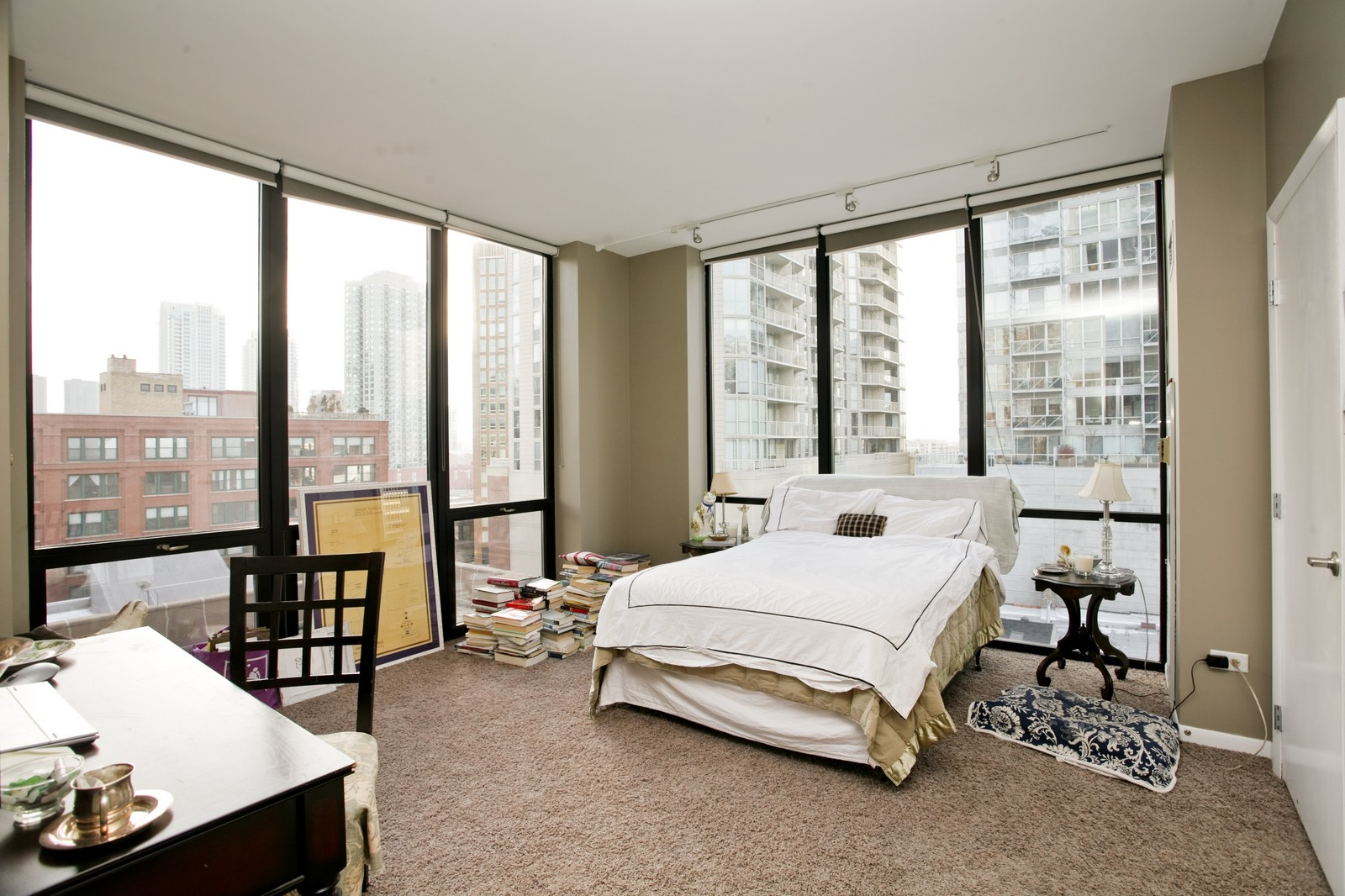 Real Estate Photography - 435 W Erie, Unit 807, Chicago, IL, 60654 - Master Bedroom