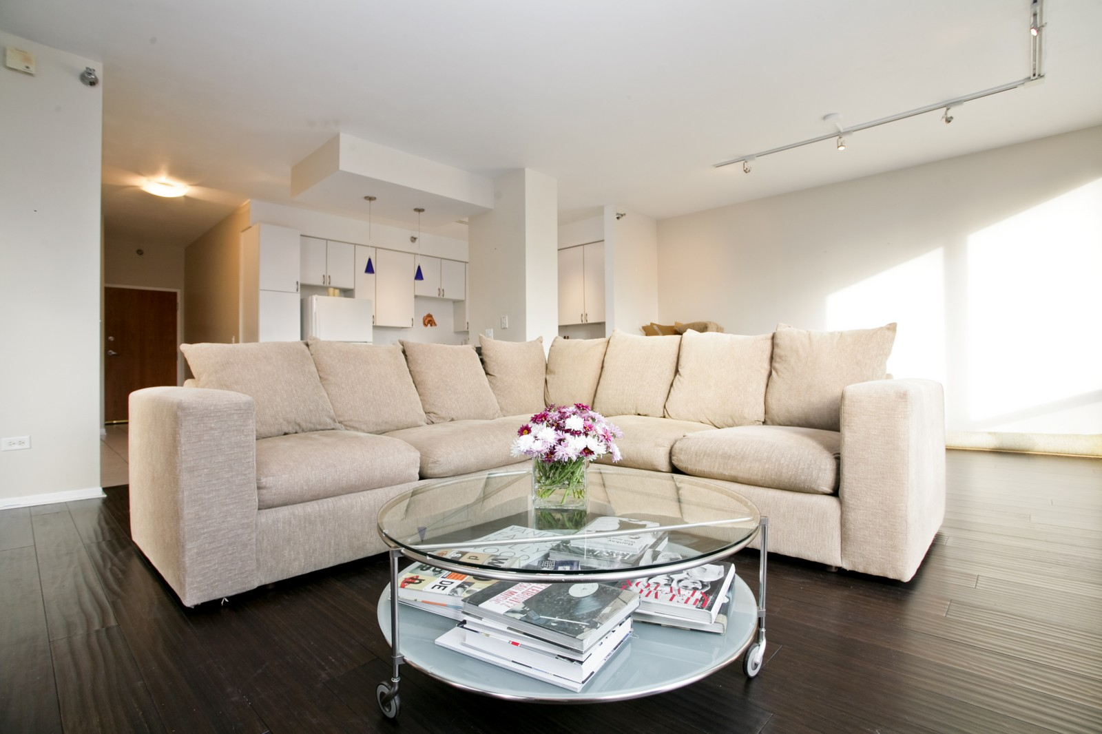 Real Estate Photography - 435 W Erie, Unit 807, Chicago, IL, 60654 - Living Room