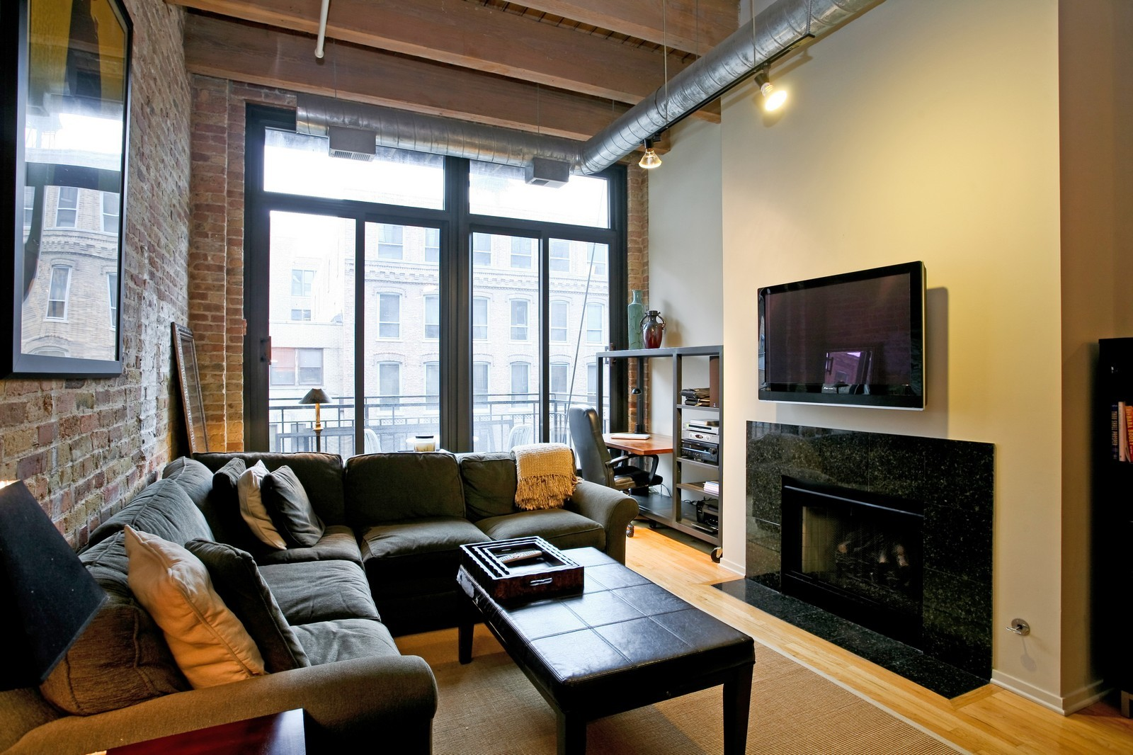 Real Estate Photography - 375 W Erie, Unit 305, Chicago, IL, 60654 - Living Room