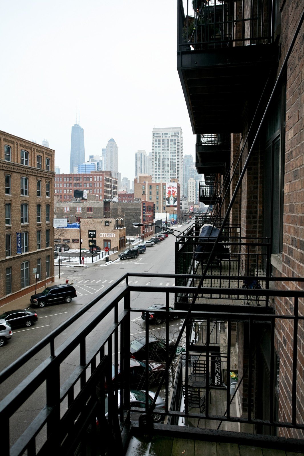 Real Estate Photography - 375 W Erie, Unit 305, Chicago, IL, 60654 - Balcony