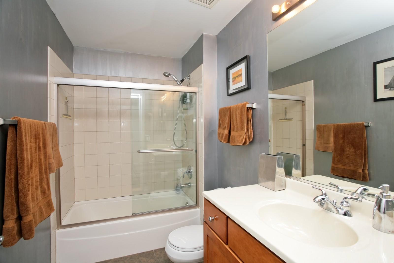 Real Estate Photography - 1000 N Kingsbury, Unit 301, Chicago, IL, 60654 - Bathroom