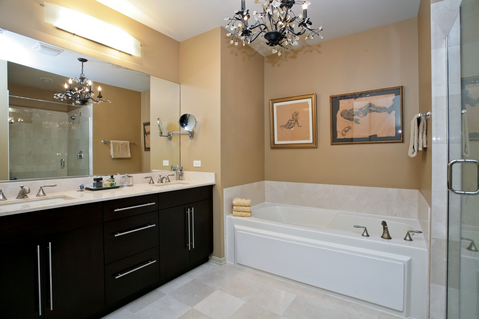 Real Estate Photography - 500 W Superior, Unit 703, Chicago, IL, 60654 - Master Bathroom