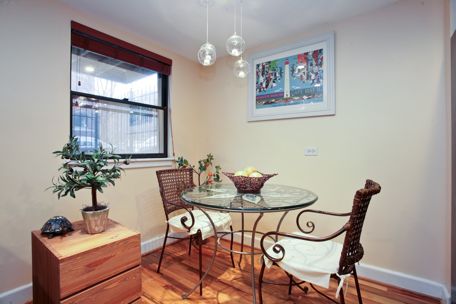 Real Estate Photography - 921 W Sunnyside, Unit Garden, Chicago, IL, 60640 - Dining Room