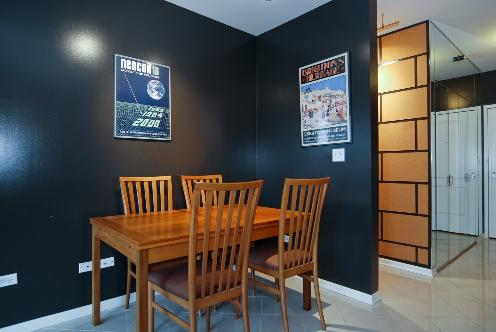 Real Estate Photography - 21 W Chestnut, Unit 1601, Chicago, IL, 60610 - Dining Room