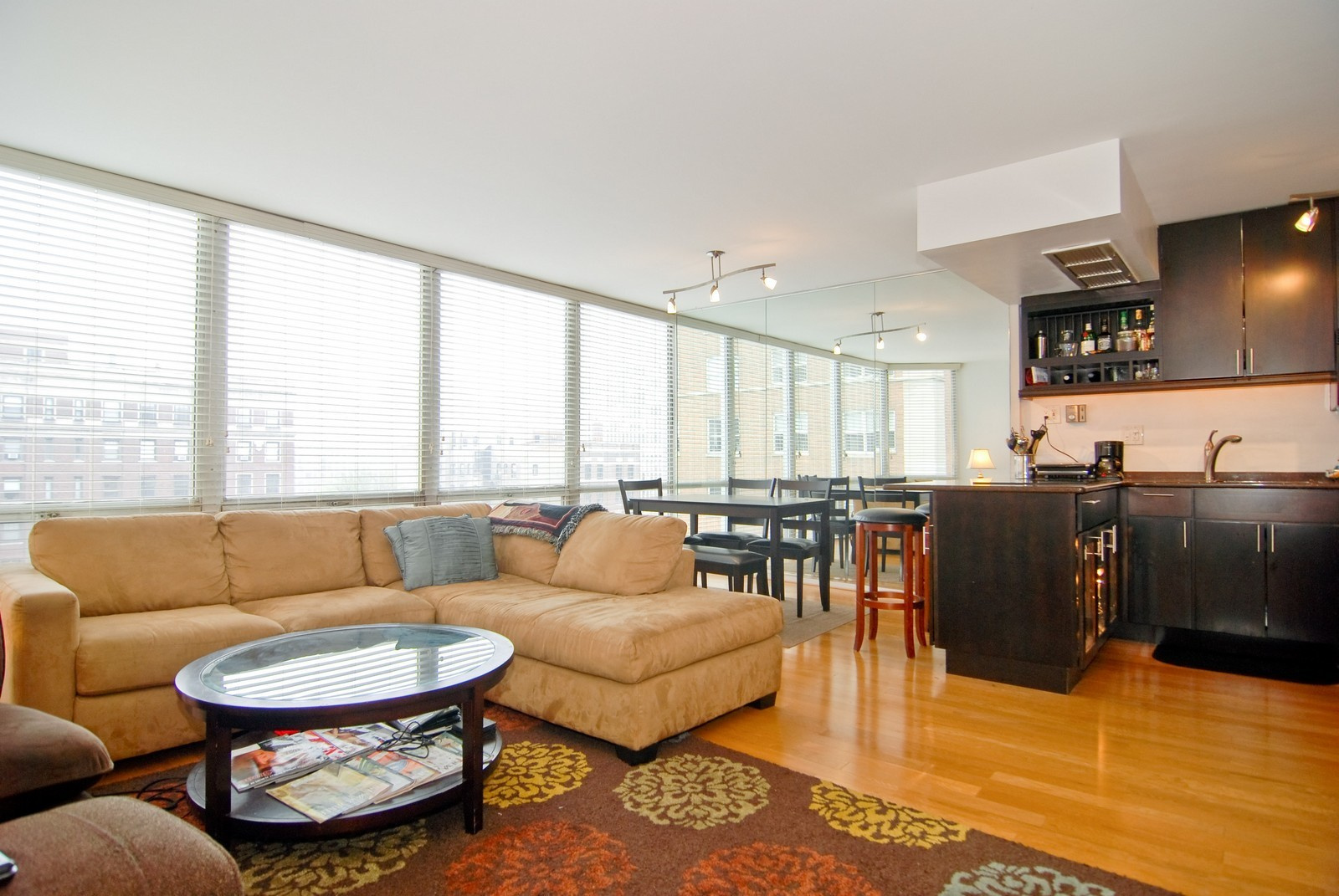 Real Estate Photography - 21 W Goethe, Unit 9F, Chicago, IL, 60610 - Kitchen / Living Room