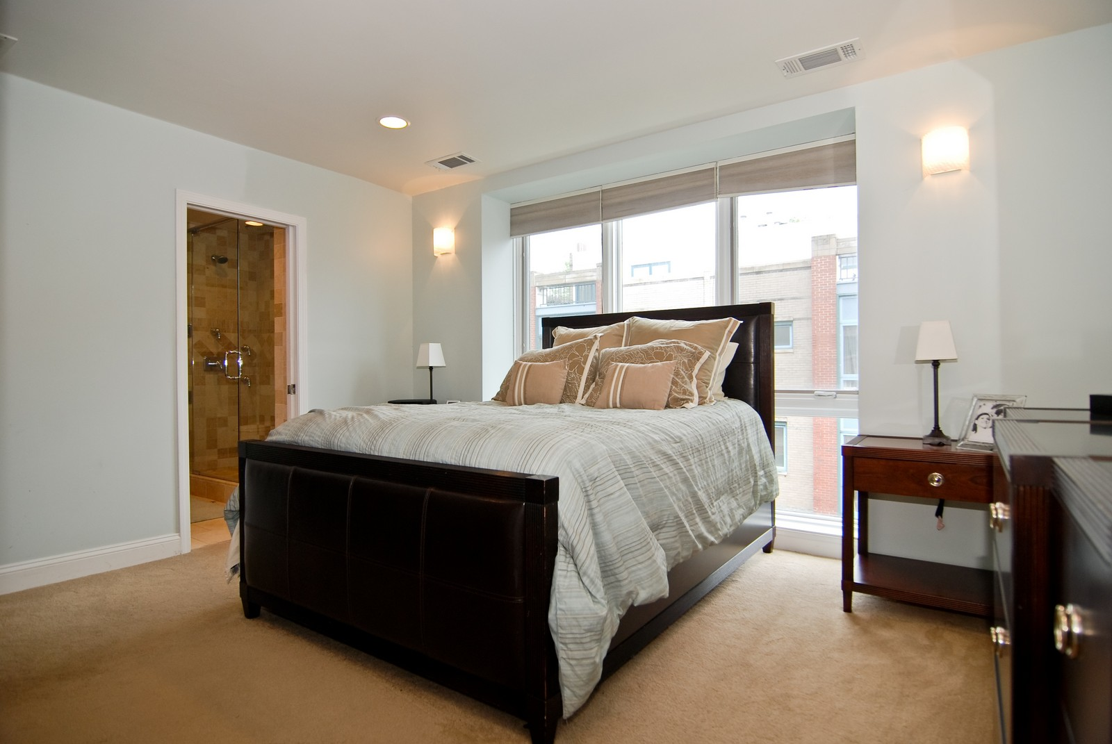 Real Estate Photography - 1416 S Federal, Unit D, Chicago, IL, 60605 - Master Bedroom